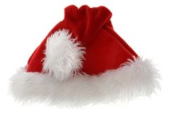 Santa's Hat. Isolated over white Stock Photo