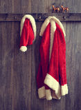 Santa's Hat & Coat Royalty Free Stock Images