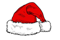 Santa's Hat. A drawing of Santa's Hat alone Stock Photography