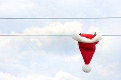 Santa's hat drying after Christmas. Stock Image