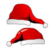 Santa's hat isolated on white Stock Images