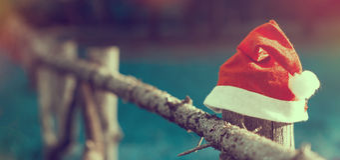 Santa's hat Stock Images