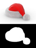 Santa's hat series. Isolated hat with alpha channel for fur element Royalty Free Stock Photography