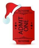 Santa's hat and ticket illustration design Royalty Free Stock Photos
