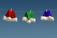 Santa's hats laundry Stock Photo