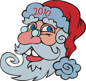Santa's_head Royalty-vrije Stock Foto