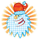 Santa's head. Santa Claus head. Vector illustration, without gradients, great for printing, easy to handle stock illustration