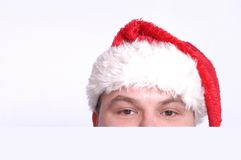Santa`s head Royalty Free Stock Photos
