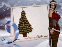 Santa`s Helper Stock Photo