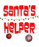 Santa`s Helper Illustration royalty free stock photography