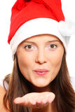 Santa's helper sending a kiss Royalty Free Stock Photo