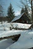 Santa's house, Christmas, Romanian house. Wooden house from a romanian village Stock Photos