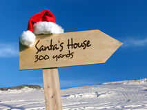 Santa's House signpost Stock Photos