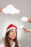 Santa's idea Stock Photo