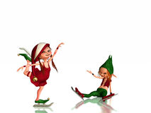 Santa's Inbred Elves Stock Image