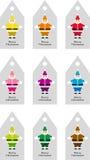 Santa's labels Stock Photos