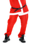 Santa's legs Royalty Free Stock Images