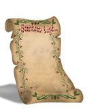 Santa's List On Old Parchment scroll Royalty Free Stock Photography