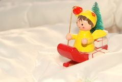 Santa's little Christmas helper Stock Images
