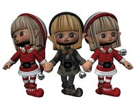 Santa's Little Helpers - 3 Stock Images