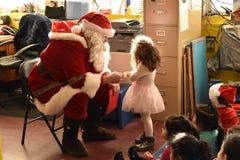 Santa`s Magical Moment stock photos