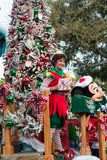 Santa's Mailroom float in Disneyland Parade Stock Photo