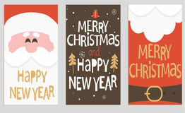 Santa's message banners. stock illustration