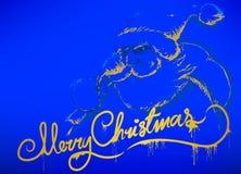 Santa S Message Blue Royalty Free Stock Photography
