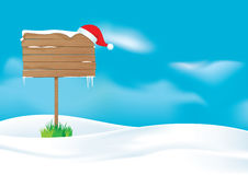 Santa's message board Stock Images