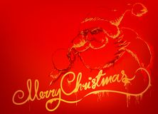 Santa's message red royalty free illustration