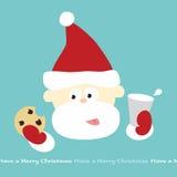 Santa's Milk and Cookie break. Illustration of Santa having milk and cookie (removable text stock illustration