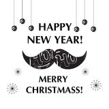 Santa's Moustache. Christmas and New year funny Stock Photo