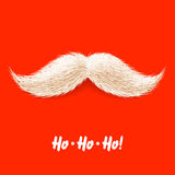 Santas mustache. Vector illustration Stock Images
