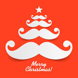 Santas mustache Christmas tree Royalty Free Stock Photography