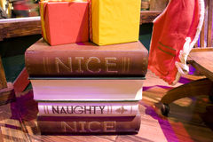 Santa's naughty list stock photography
