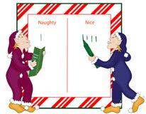 Santa's Naughty and Nice List Royalty Free Stock Image
