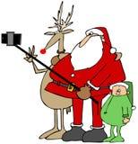 Santa's new selfie stick Stock Photography