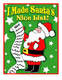 Santa's Nice List Stock Images