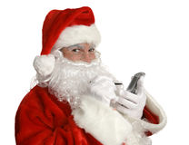 Santa's Nice List on PDA Royalty Free Stock Photos