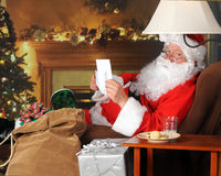 Santa's Note Stock Photo