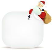 Santa's Pointing Blank Sign Stock Image