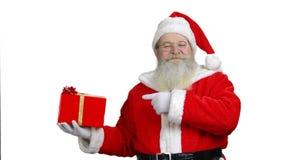 Santa`s promising the present is good. stock video