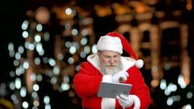 Santa`s reading a Christmas poem. stock video