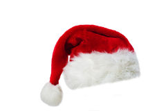 Santa's red hat. Isolated over white background Stock Photo