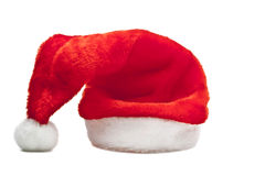 Santa's red hat isolated. On white background Royalty Free Stock Photography