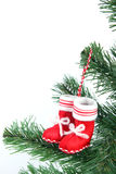 Santa's red stocking Royalty Free Stock Photography