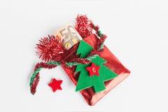 Santa's sack, Euro notes Stock Image