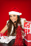 Santa's secretary Royalty Free Stock Photo
