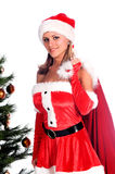 Santa's Sexy Helper Stock Photography