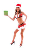 Santa's sexy helper. Royalty Free Stock Photography